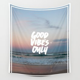 Good Vibes Only Beach and Sunset Wall Tapestry