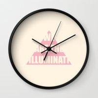 illuminati Wall Clocks featuring Illuminati by filiskun