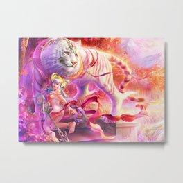 Four Symbols-White Tiger Metal Print