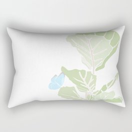 Fig Tree and Blue Butterfly Rectangular Pillow
