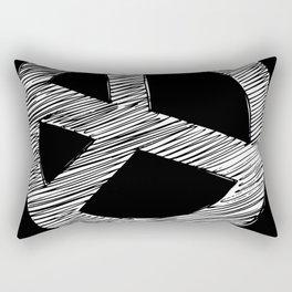 Peace Sign Sketch Rectangular Pillow