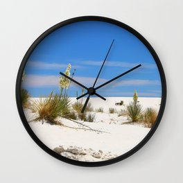 Soap Yucca At White Sand Wall Clock