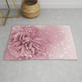 Light Pink Rose with hearts #1 #floral #art #society6 Rug