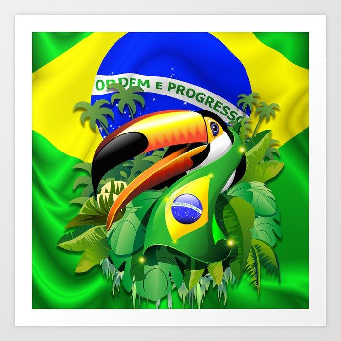 Brazilian Flag Body Paint