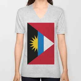 Flag Of Antigua and Barbuda Unisex V-Neck