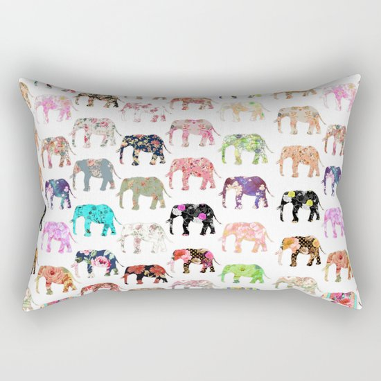 Floral Herd Rectangular Pillow