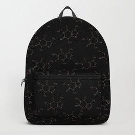 Caffeine pattern- Rose gold/ Black Backpack