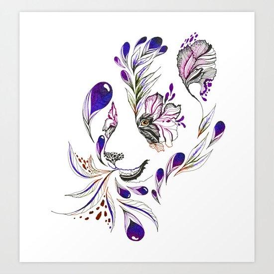 Hidden panda Art Print