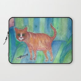 A Tomcat and his Fish Laptop Sleeve
