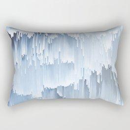 Waterfall glitch Rectangular Pillow