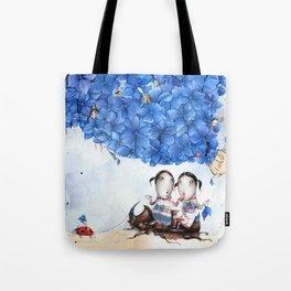 hydrangea-blue Tote Bag