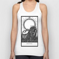 tarot Tank Tops featuring Strength Tarot by Corinne Elyse