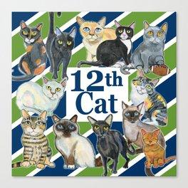 12th Cat Canvas Print