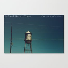 Orland Water Tower Canvas Print