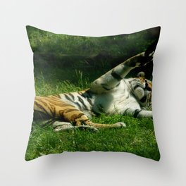 Resting Tiger Throw Pillow