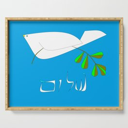 White Dove of Peace, Shalom Serving Tray