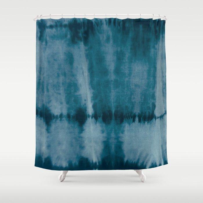 Tye Dye Denim Shower Curtain By Plentyculture
