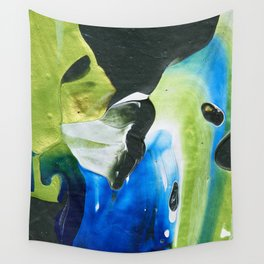 Abstraction - Green and green - by LiliFlore Wall Tapestry