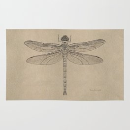 Dragonfly Fossil Dos Rug