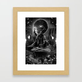 I. The Magician Tarot Card Illustration Framed Art Print