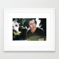 harry styles Framed Art Prints featuring Harry Styles  by Becca / But-Like-How