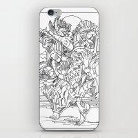cyberpunk iPhone & iPod Skins featuring A Cyberpunk Madonna by Davide Caviglia