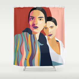 Womanity - Sisterhood - Model#2.3 - fashion illustration Shower Curtain