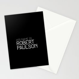 His name is Robert Paulson Stationery Cards