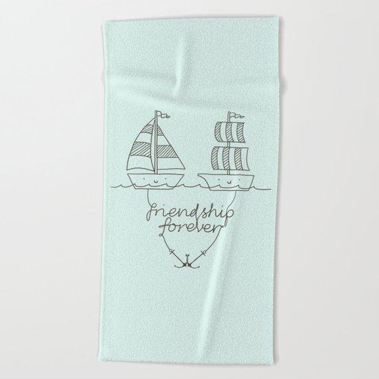 Friendship forever Beach Towel