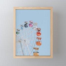 ferris wheel ii Framed Mini Art Print