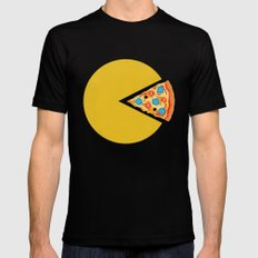 Pizza-Man Mens Fitted Tee Black LARGE