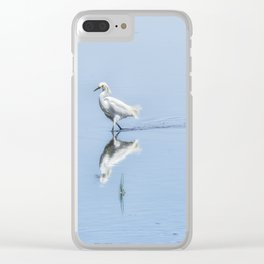 Strutting Snowy Egret from Chincoteague Clear iPhone Case