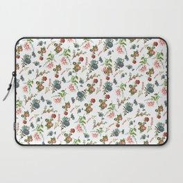 Antique Floral Pattern Laptop Sleeve