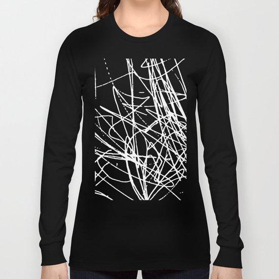 Daisy Scribble Black Long Sleeve T-shirt