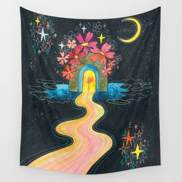 Pilgrimage to the center of my heart Wall Tapestry