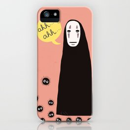 Spirited Away No Face Ahh..Ahh... iPhone Case