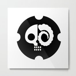 Drunkskull Metal Print