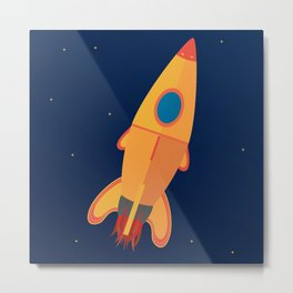 the yellow rocket Metal Print