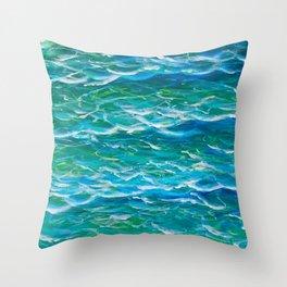 Ocean Waves Etude Throw Pillow