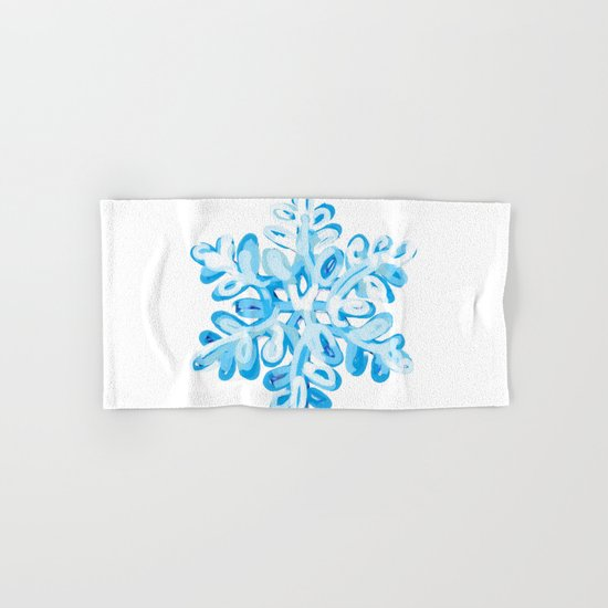 Let It Snow Snowflake Painting Hand & Bath Towel