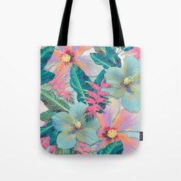 Aqua Ginger Alohas Tote Bag