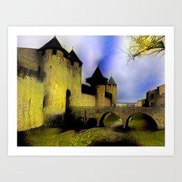 Walls of Carcassonne Art Print