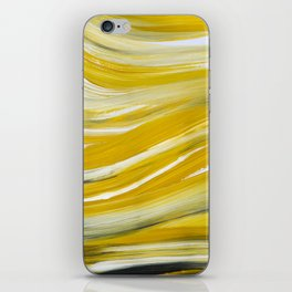 Gold Waves Abstract iPhone Skin