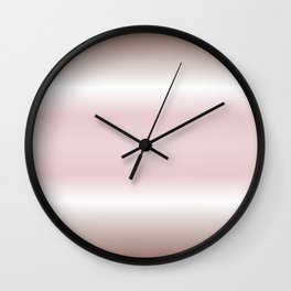 Dusky Pink Mauve Gradient Stripes Wall Clock