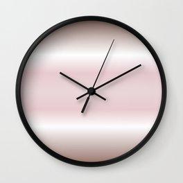 Dusky Pink Mauve Gradient Stripes Wall Clock