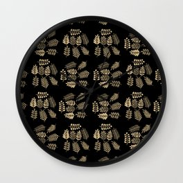 Pattern with branches Wall Clock
