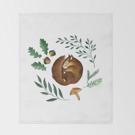 Sleepy Squirrel Throw Blanket