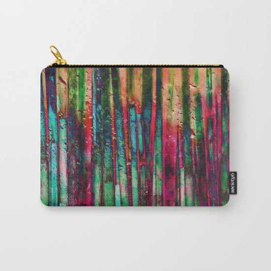 Colored Bamboo Carry-All Pouch