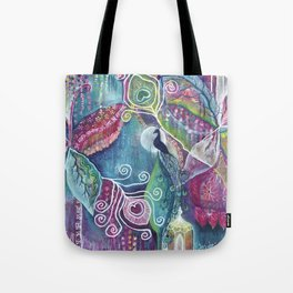 Sacred Temple and the Peacock King - Justine Aldersey-Williams 2012 Tote Bag