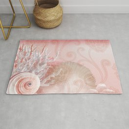 SEASHELL DREAMS | pink Rug